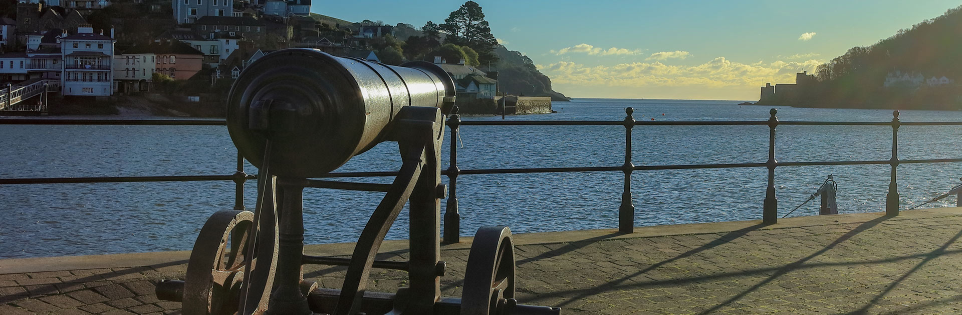 Dartmouth Cannon Looking Out To Sea