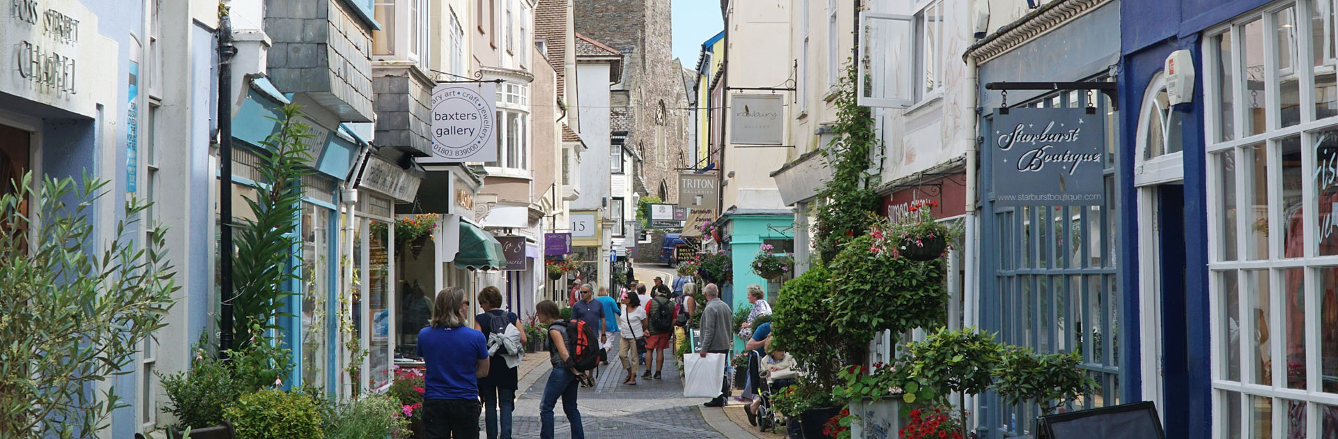 Dartmouth Boutique Shops and Cafes